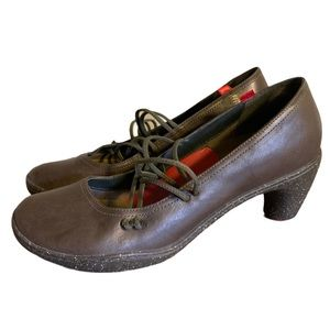 Camper Brown Leather Eco Heels - Women's Size 40